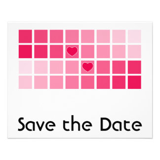 Any Color Modern Typography Save the Date Personalized Flyer