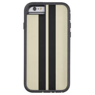 Any Color Pepper White Black Racing Stripes Tough Xtreme iPhone 6 Case