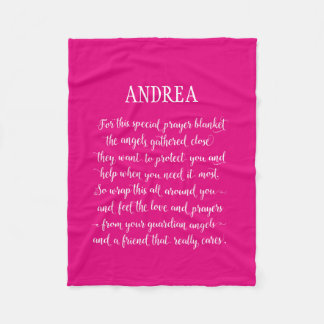Any Color Personalized Calligraphy Prayer Blanket