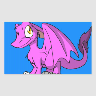 Any Color SD Furry Dragon w/ Blue Background