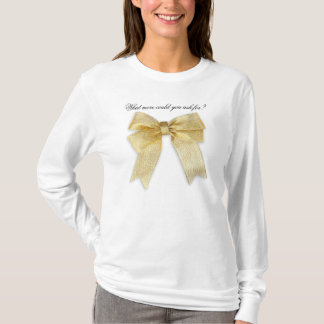 Any Color with Gold Holiday Bow Add Your Text T-Shirt
