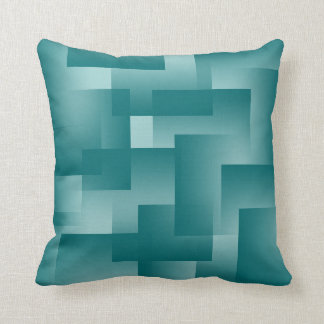 Any Color with Teal Gradient Blocks Throw Pillow
