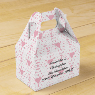 Any colour and white lace heart wedding wedding favor box