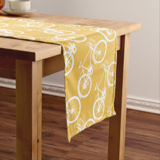 Any Custom Color Bicycle Pattern Short Table Runner