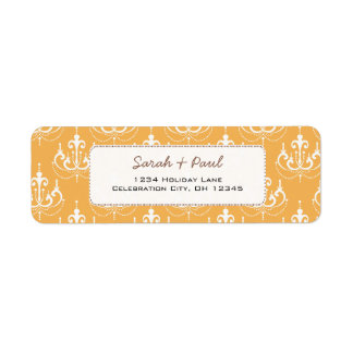 Any Custom Wedding Color Chandeliers Return Address Label