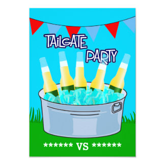 """Any Event Tailgate Party Customizable 5"""" X 7"""" Invitation Card"""