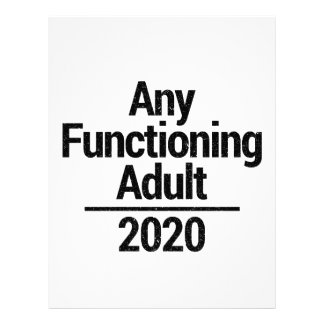 Any Functioning Adult 2020 Letterhead