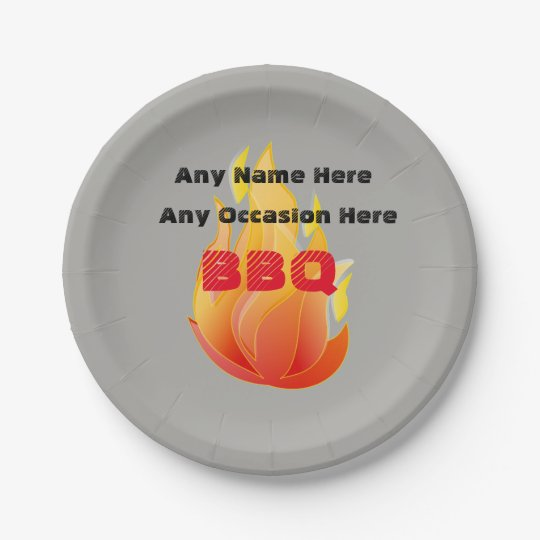 Any Name, Any Occasion, BBQ - 7 Inch Paper Plate