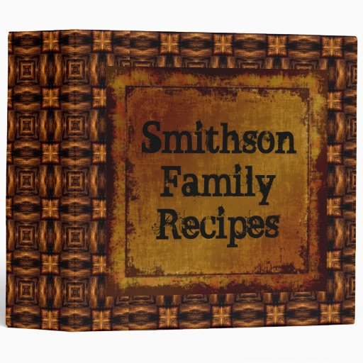 Any Name Family Recipes Leather Look Binder