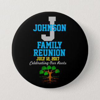 Any Name Family Reunion with Any Date - 3 Inch Round Button