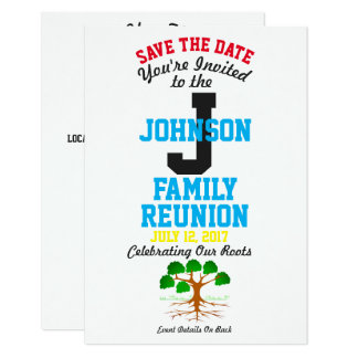 Any Name Family Reunion with Any Date - Card