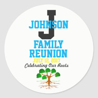 Any Name Family Reunion with Any Date - Classic Round Sticker