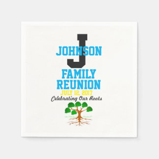 Any Name Family Reunion with Any Date - Paper Napkin
