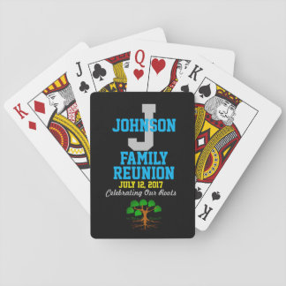 Any Name Family Reunion with Any Date - Playing Cards