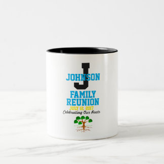 Any Name Family Reunion with Any Date - Two-Tone Coffee Mug