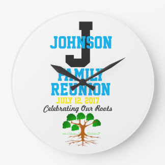 Any Name Family Reunion with Any Date - Wall Clock