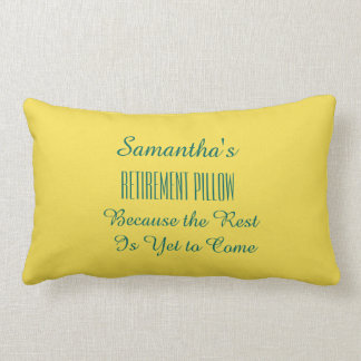 (Any Name) Funny Retirement - Lumbar Pillow