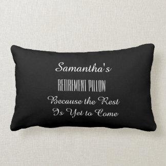 Any Name Funny Retirement - Lumbar Pillow