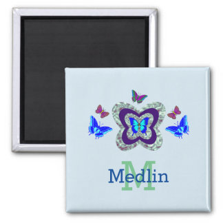 Any Name Vibrant Butterflies Magnet