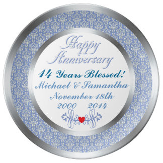 ANY Number Personalized Anniversary Plate