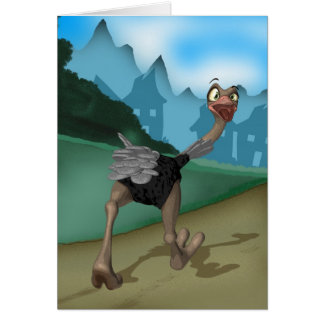 Any Occasion Card - Cartoon Ostrich - Digital Pain