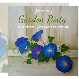 Any occasion Garden Party floral Morning Glory Card