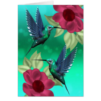 Any Occasion Humming Bird Greeting Card