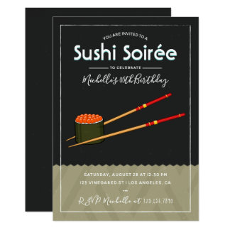 Any occasion Sushi Dinner/Party custom Invitation