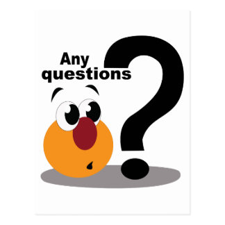 Any Questions Postcard