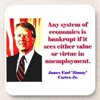 Any System Of Economics - Jimmy Carter Beverage Coaster