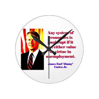 Any System Of Economics - Jimmy Carter Wall Clocks