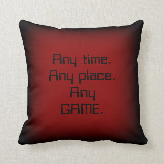 """""""Any Time"""" Gamer Pillow"""
