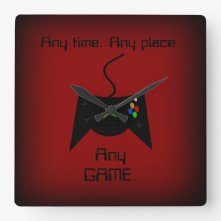 """Any Time"" Gamer Wall Clock"