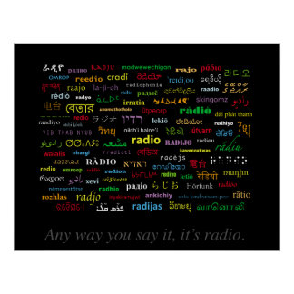 Any Way You Say It, It's Radio II Poster