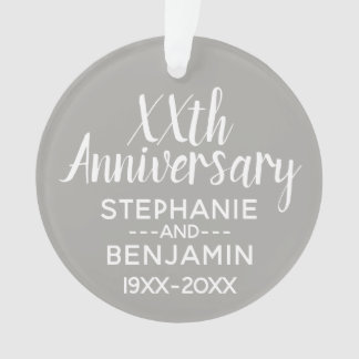Any Wedding Anniversary - Can Edit Gray Color Ornament