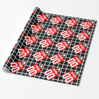 Any Year Birthday SQUARES and SPORTS NUMBERS V13K Wrapping Paper