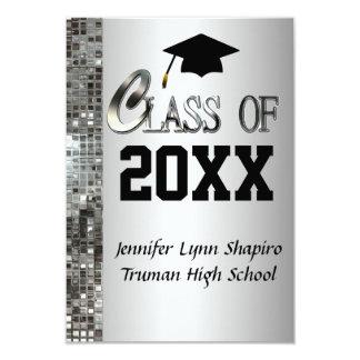 Any Year Classy Silver Graduation Invitations