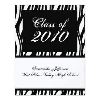ANY YEAR Funky Black & White Graduation Invitation