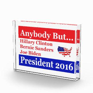 Anybody but Hillary, biden,sanders