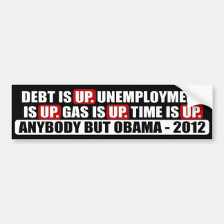 Anybody but Obama - 2012 Bumper Sticker