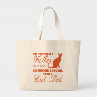 Anyone Can Be A Father (orange) Large Tote Bag