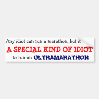 anyone can run a marathon bumper sticker