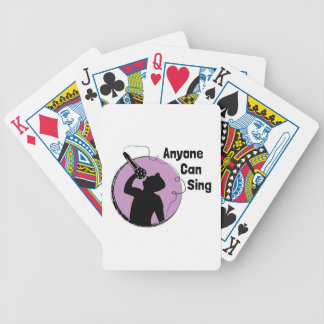 Anyone Can Sing Bicycle Playing Cards