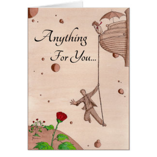 Anything For You - Reaching For Rose - On Rope Card