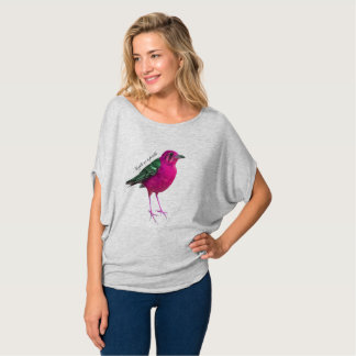 Anything is possible. PinkBirdz Flowy Grey Top