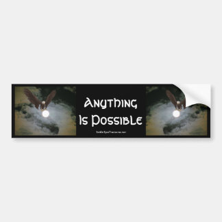 Anything Possible Eagle Inspiration Bumper Sticker
