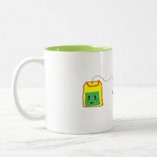 Anytime is Tea Time - Green Tea Bag Two-Tone Coffee Mug