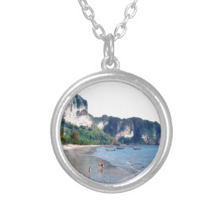 Ao Nang Beach, Krabi Silver Plated Necklace