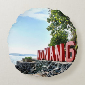 Ao Nang Sunset Beach Round Pillow