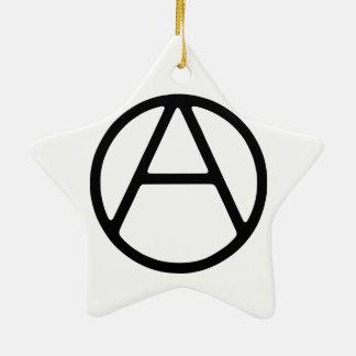 AO-OA Black Simple Monogram Ceramic Star Ornament